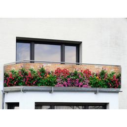 WENKO Balkonsichtschutz »Mauer-Blumen«, Polyethylen/Polyamid, HxL: 500 x 85 cm