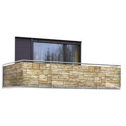 WENKO Balkonsichtschutz »Mauer «, Polyethylen/Polyamid, HxL: 500 x 85 cm