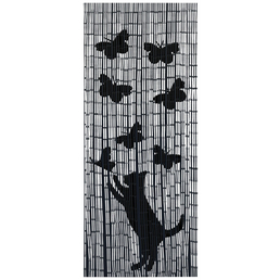 WENKO Bambusvorhang, Katze und Schmetterling
