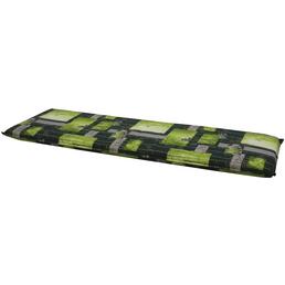 DOPPLER Bankauflage »Spirit«, Floral, grün/grau, 150 cm x 48 cm