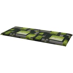 DOPPLER Bankauflage »Spirit«, grau/grün, Blätter, BxL: 48 x 120 cm