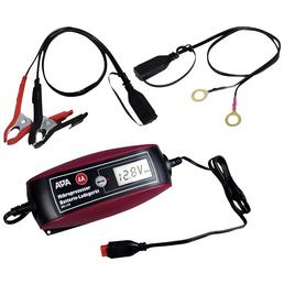 APA Batterieladegerät, 18 x 8 x 4,5 cm, 6/12 V, 4 A, Rot | Schwarz