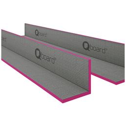 Bauplatte, BxHxL: 200 x 200 x 1200 mm, Polystyrol (EPS)/Zement/Glasfaser/Kunststoff, grau/rosa