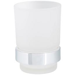 WELLWATER Becherhalter »Ferrara«, Glas/Metall, transparent/chromfarben