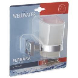 WELLWATER Becherhalter »Ferrara«, Höhe: 9,6 cm, transparent/chromfarben