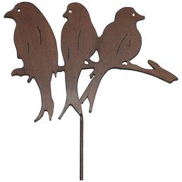 Beetstecker, Vogelgruppe, rostfarben, Metall