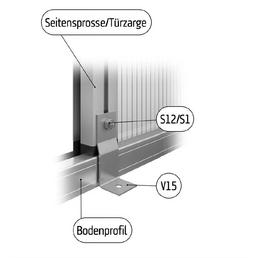 KGT Befestigungsset »alle KGT Gewächshäuser«, Aluminium, silberfarben