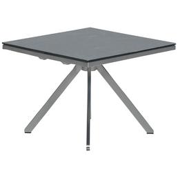 GARDEN IMPRESSIONS Beistelltisch »Edelstahl«, mit Glas/Schiefer-Tischplatte, BxTxH: 50 x 53 x 42 cm