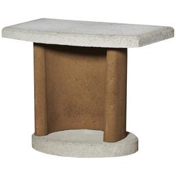 BUSCHBECK Beistelltisch »Georgia«, Beton, terracotta/weiß, Breite: 70 cm