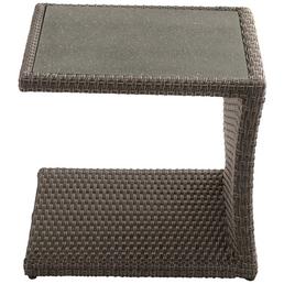 ploß® Beistelltisch »Jardel« mit Glas-Tischplatte, BxTxH: 50 x 50 x 45 cm