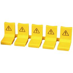 ABB Berührungsschutzkappe, Phasenschienen, Kunststoff, gelb, 5 Stück