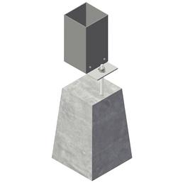 GARDENDREAMS Betonfuß B x H: 15  x 20   cm, Beton, Farbe: grau
