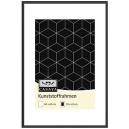 CASAYA Bilderrahmen, CASAYA Kunststoffrahmen, Silber, 40x60 cm