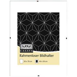 CASAYA Bilderrahmen, CASAYA Rahmenloser Bildhalter, Transparent, 50x70 cm
