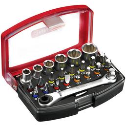 """CONNEX Bit- und Steckschlüsselsatz, 1/4""""-Universal-Magnethalter"""