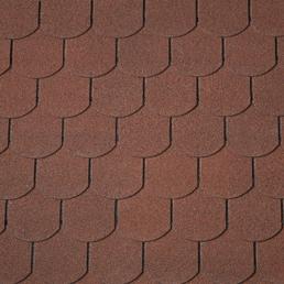 RENOVO Bitumendachschindeln, Biber, Halbrund, Rot, 2 m², ca. 100 x 33,3 cm