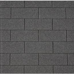 RENOVO Bitumendachschindeln, rechteckig, Rechteckig, Schwarz, 2 m², 80 x 33,6 cm