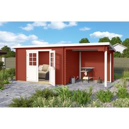 LASITA MAJA Blockbohlenhaus, BxT: 488 x 200 cm (Außenmaße), Pultdach