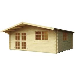 Blockbohlenhaus »England 3«, BxT: 525 x 484 cm (Aufstellmaße), Satteldach