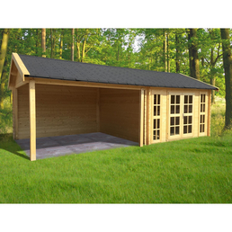 Gardenhouses® Blockbohlenhaus »Hannover«, B x T: 760 x 360 cm, Fichte