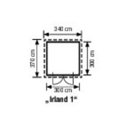 mr gardener blockbohlenhaus irland b x t 340 x 370 cm. Black Bedroom Furniture Sets. Home Design Ideas