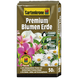 GARTENKRONE Blumenerde »Premium«, für Zimmer-,Balkon- und Terassenpflanzen