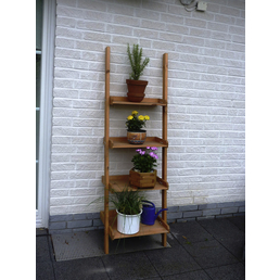 PROMADINO Blumenleiter,  Höhe: 177 cm, honigbraun
