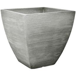 Blumentopf, BxHxT: 45 x 42 x 45 cm, steingrau