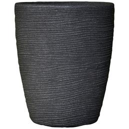 Vasar Blumentopf »Shabby«, Breite: 30 cm, granit-grau dunkel, Kunststoff