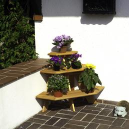 PROMADINO Blumentreppe, BxH: 87 x 62 cm, Kiefernholz, honig
