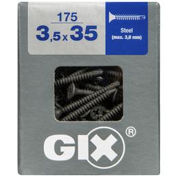 SPAX Bohrspitzschraube, 3,5 mm, Stahl, 175 Stk., GIX D 3,5x35 L