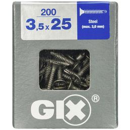 SPAX Bohrspitzschraube, 3,5 mm, Stahl, 200 Stk., GIX D 3,5x25 L