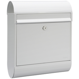 ME-FA Briefkasten »Ruby«, oval, Stahl, weiß