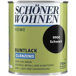 SCHÖNER WOHNEN FARBE Buntlack »DurAcryl hochglänzend«, schwarz hochglanz , hochglänzend
