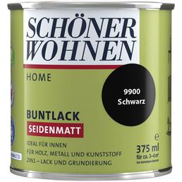 SCHÖNER WOHNEN FARBE Buntlack »DurAcryl seidenmatt«, schwarz , seidenmatt