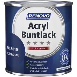 RENOVO Buntlack, Enzianblau, für innen & außen