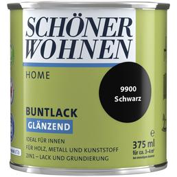 SCHÖNER WOHNEN FARBE Buntlack, schwarz, hochglänzend
