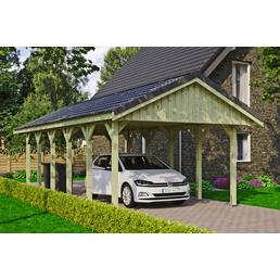 SKANHOLZ Carport, B x T x H: 430 x 900 x 326 cm, grün