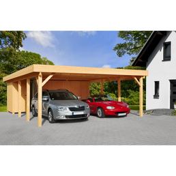Carport »Heidelberg 2«, Außenmaß BxT: 555 x 732 cm, braun