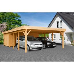 Carport »Heidelberg XL«, Außenmaß BxT: 555 x 872 cm, braun