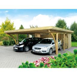 MR. GARDENER Carport »Köln 2«, BxHxT: 604 x 240 x 760 cm, braun