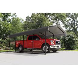 SHELTERLOGIC Carport »Stahlcarport Garage Überdachung«, Außenmaß BxT: 370 x 600 cm, anthrazitgrau|schwarz