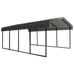 SHELTERLOGIC Carport »Stahlcarport Garage Überdachung«, BxHxT: 370 x 260 x 610 cm, anthrazitgrau|schwarz