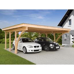 Carport »Stuttgart 1«, Außenmaß BxT: 604 x 510 cm, braun