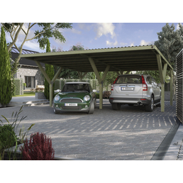 WEKA Carport »Y«, Außenmaß BxT: 588 x 362 cm, grün