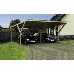 WEKA Carport »Y«, BxHxT: 594 x 250 x 606 cm, grün