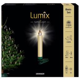 Krinner Christbaumkerzen Lumix Superlight, Elfenbein, 10er