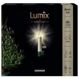 Krinner Christbaumkerzen Lumix Superlight mini, Cashmere, 12er