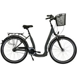 HAWK Citybike Tiefeinsteiger »Comfort Deluxe Plus«, 28 Zoll, 7-Gang, Unisex