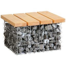 BELLISSA Couchtisch mit Holz-Tischplatte, BxLxH: 55 x 55 x 34 cm